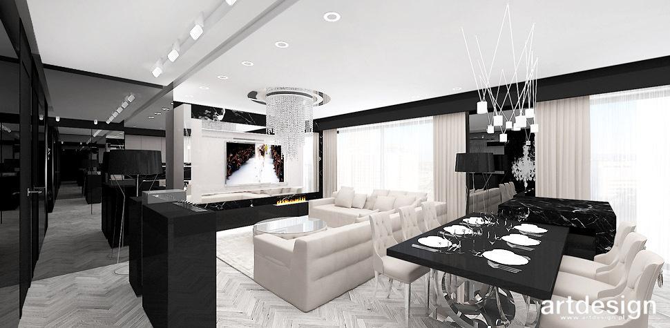 salon wnętrza projekty