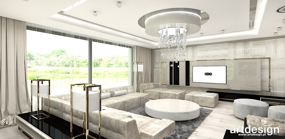nowoczesny salon wnetrze