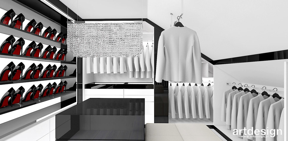 elegancka garderoba projekt