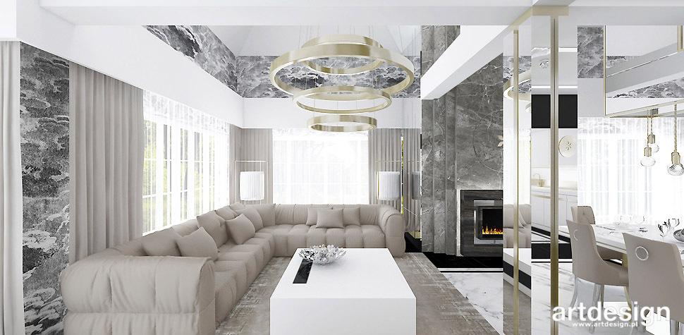 projekt salonu nowoczesny