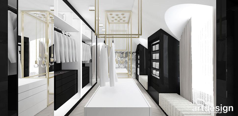 elegancka garderoba wnętrze