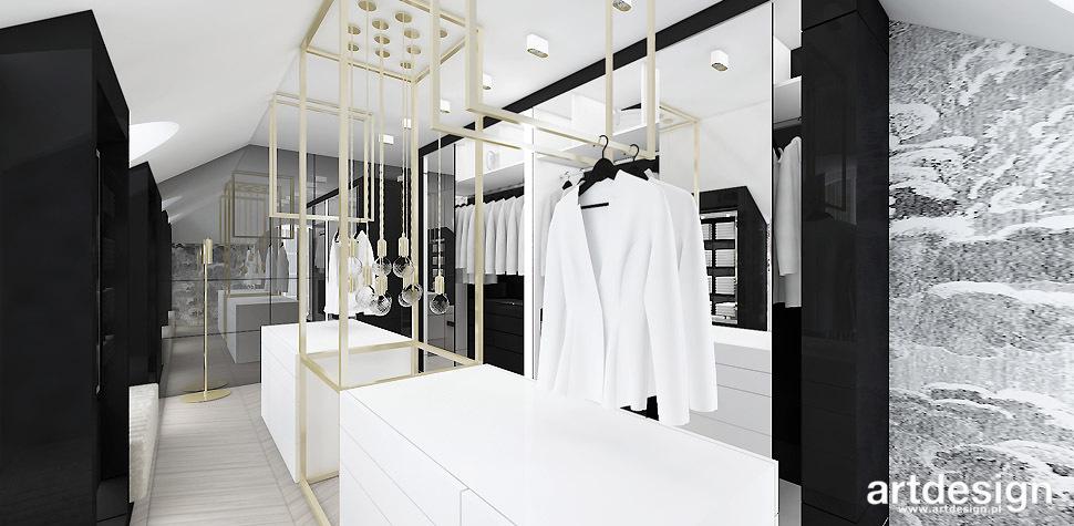 eleganckie wnętrze garderoba