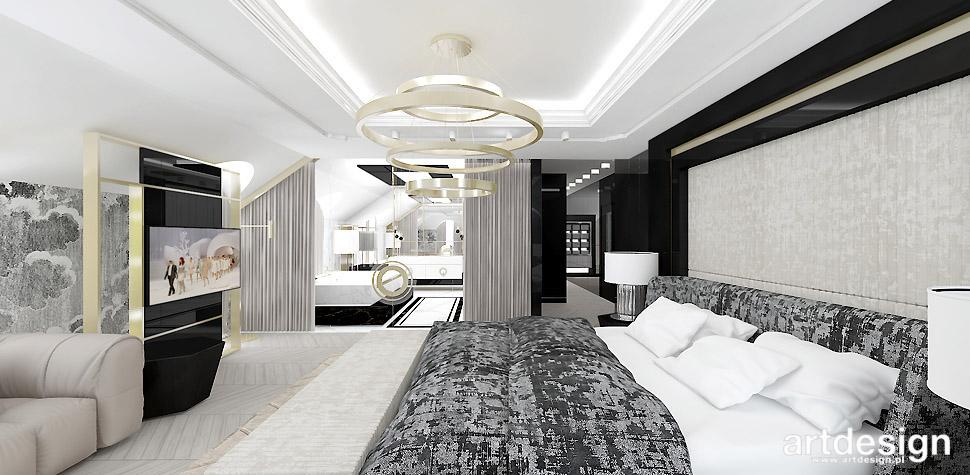 sypialnia z łazienka projekt
