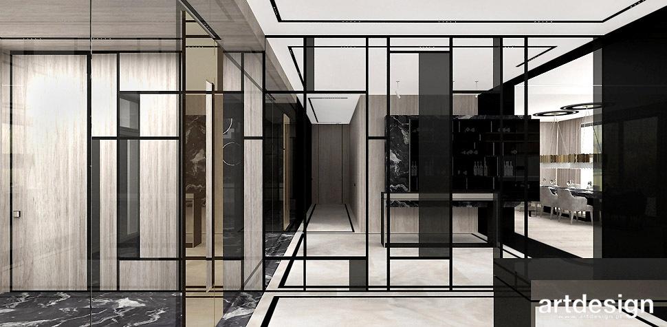 designerskie wnętrza lustra