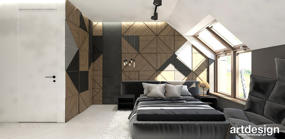 sypialnia na poddaszu projekt wnetrza
