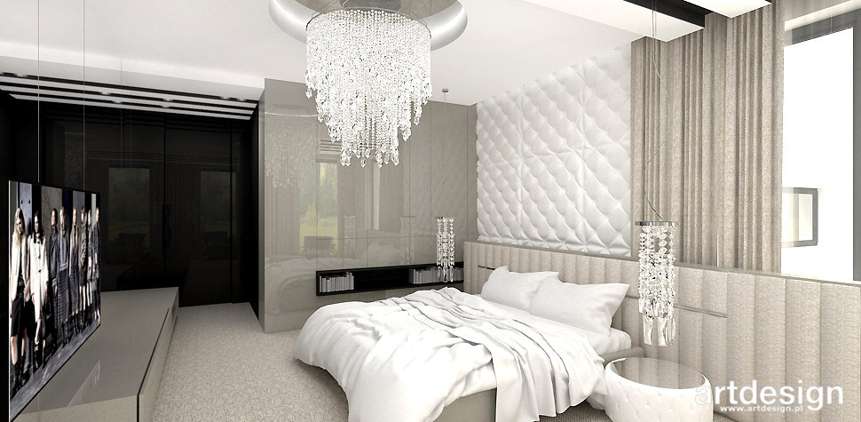 elegancka sypialnia design