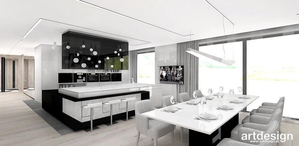 projekt kuchni z jadalnia