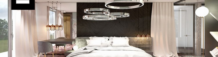 projekty sypialni wnętrz