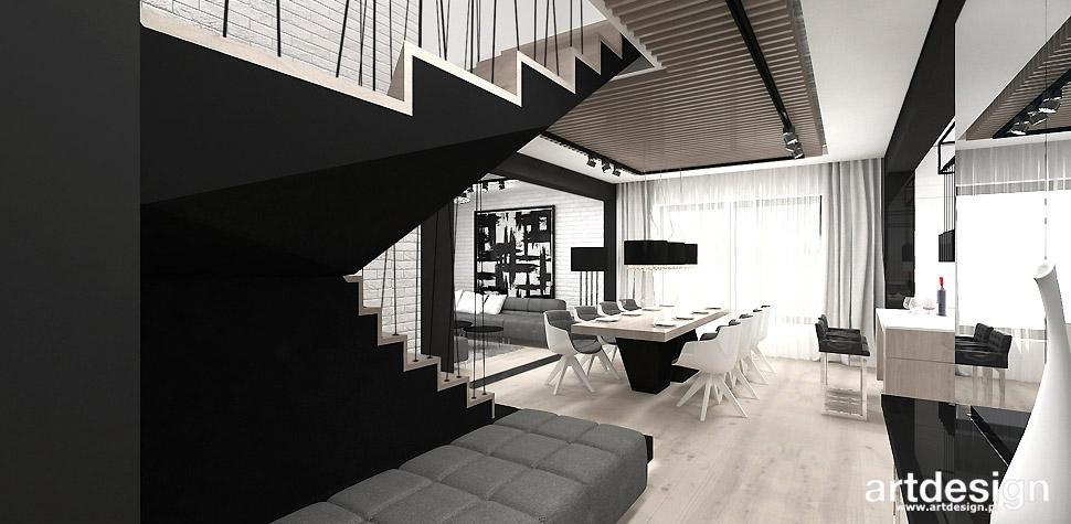 jadalnia hol w stylu nowoczesnym domu
