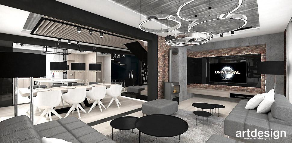 salon styl loftowy wnętrza