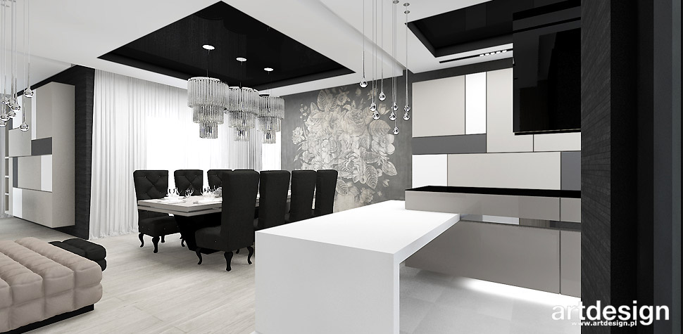 projektowanie wnętrz jadalnia kuchnia