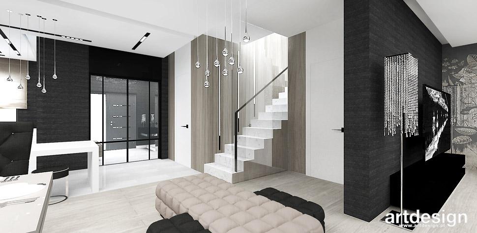 nowoczesne wnętrze domu projekt