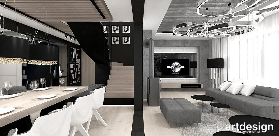 projekty wnętrza w stylu industrialnym
