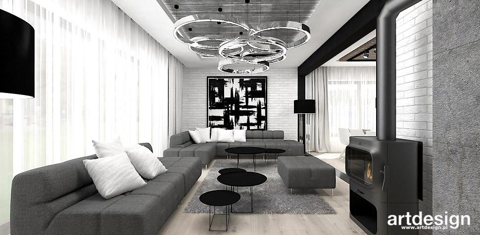 salon projekt wnętrza loftowy
