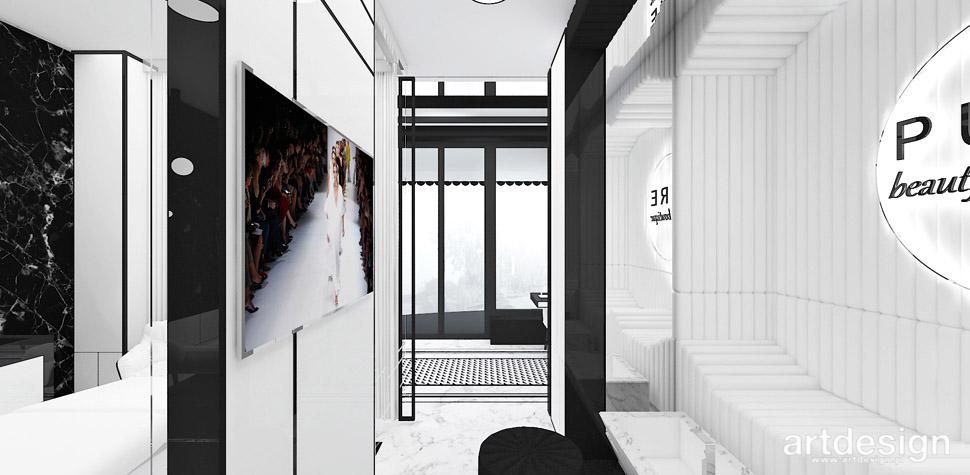 luksusowe aranżacje salon kosmetyczny