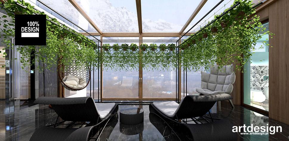 aranżacja ogród zimowy projekty wnętrz