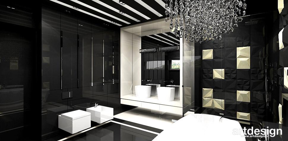 projekty wnętrz nowoczesnych łazienek