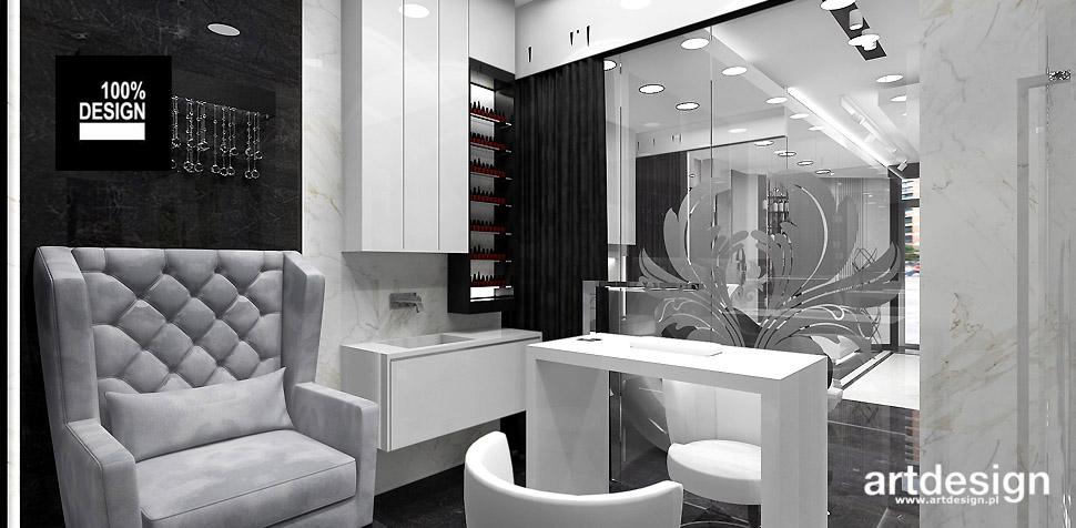projektowanie wnętrz gabinet kosmetyczny