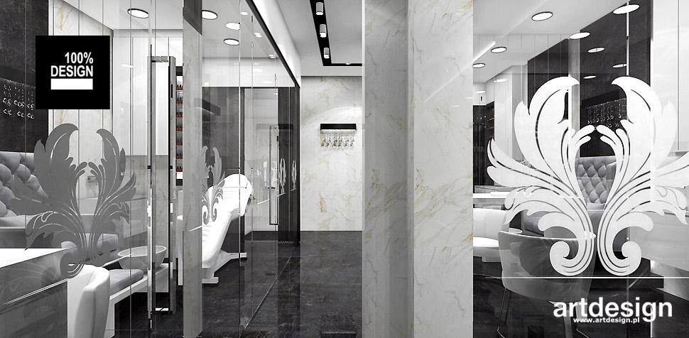 projekty wnętrz salon kosmetyczny