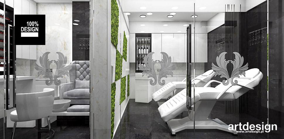 luksusowe wnętrza salonu kosmetycznego aranżacje