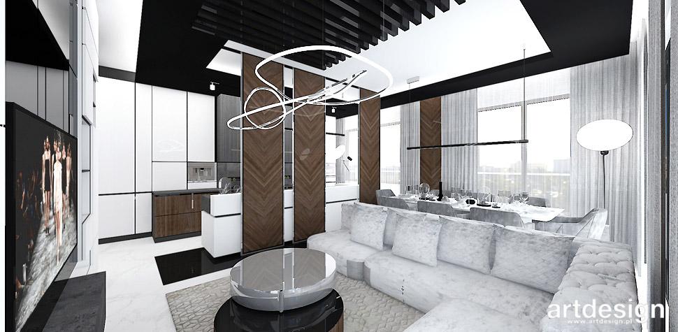 projektowanie wnętrz salon jadalnia