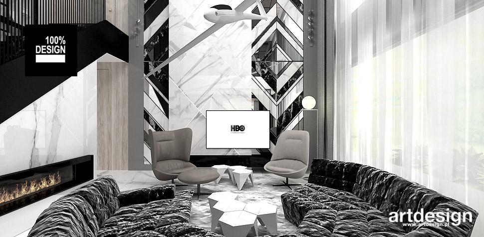 salon nowoczesny wnętrza projekt