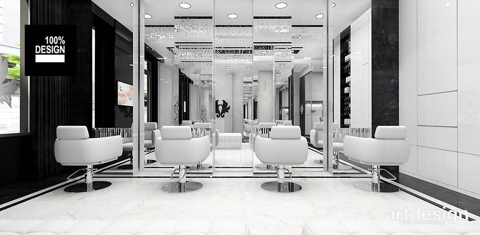 nowoczesna aranżacja wnętrza salonu fryzjerskiego