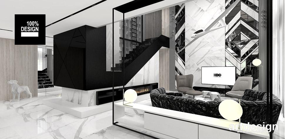 salon projekty wnętrza