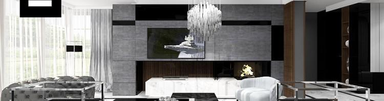 nowoczesne wnętrza domów projekt