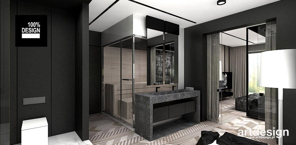 łazienka z sauna wnętrza projekty