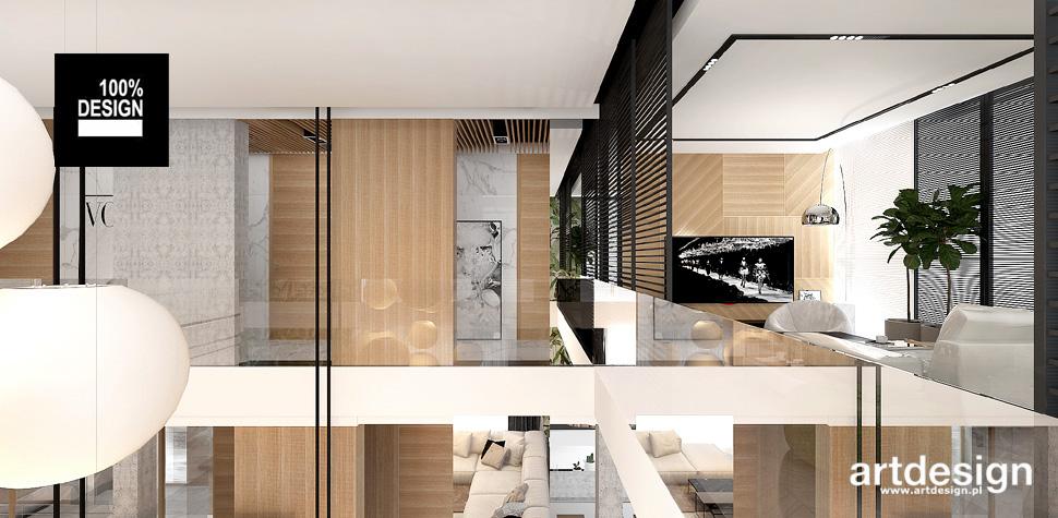 dom z antresola projekt wnętrze