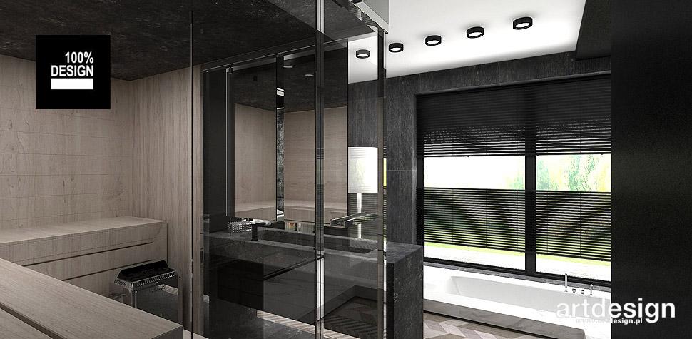 łazienka z sauna wnętrza