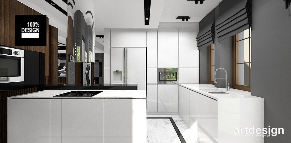 projekty wnętrz nowoczesnej kuchni