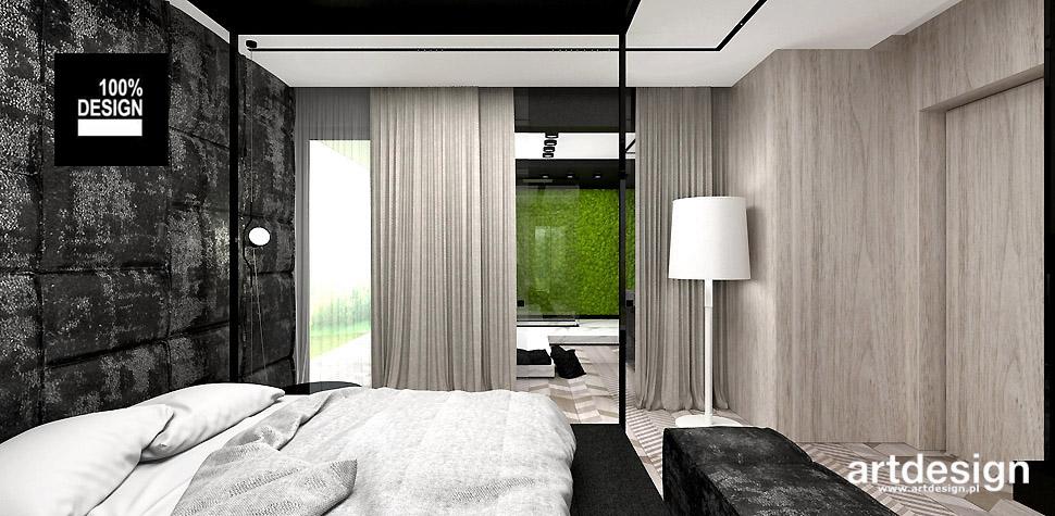 sypialnia w stylu nowoczesnym wnętrze
