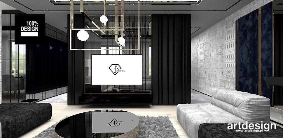 aranżacja apartamentu salon artdesign