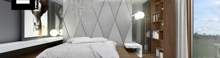 projekt wnętrz domu sypialnia