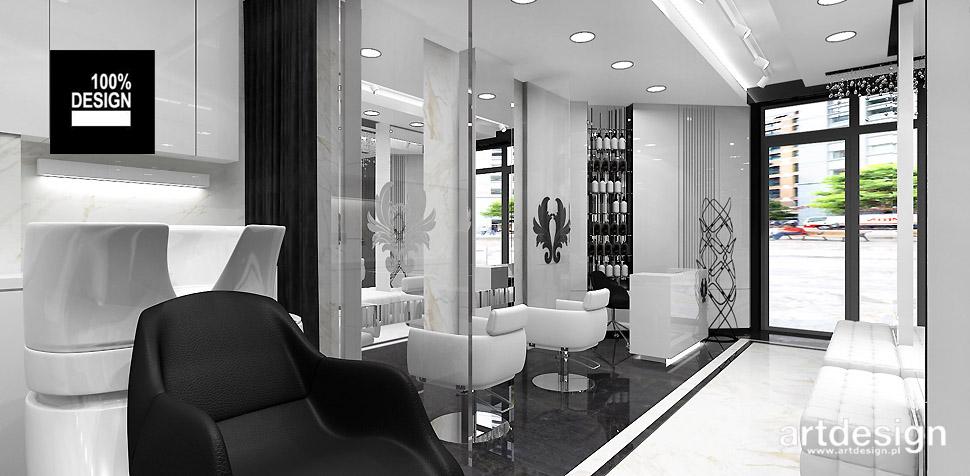 salony fryzjerskie projektowanie wnętrz