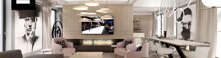 projekty wnętrz domów nowoczesnych