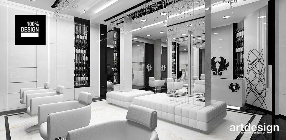 luksusowy salon fryzjerski wnętrze