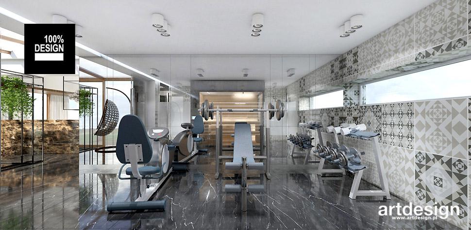 wnętrze luksusowego domu fitness