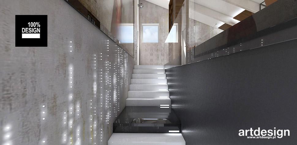 wnętrze domu projekt schodów