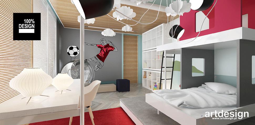 pokój dla chłopców wnętrza