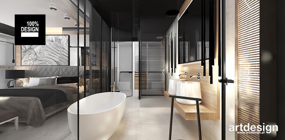projekt łazienki przy sypialni