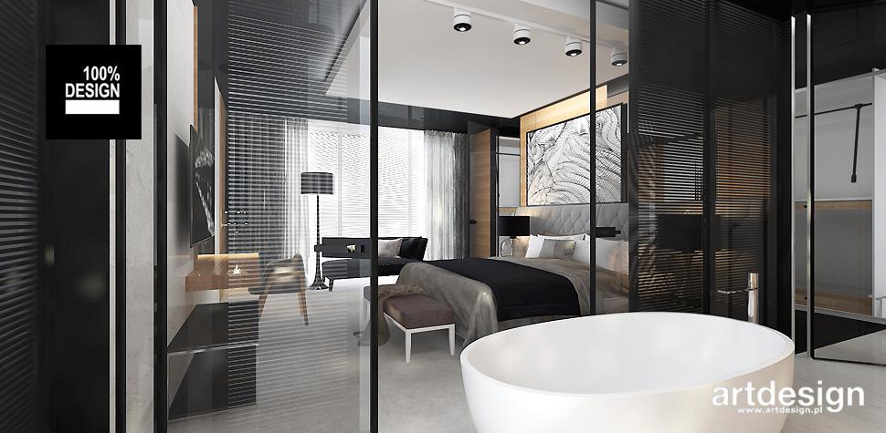 sypialnia z łazienka aranżacje wnętrz