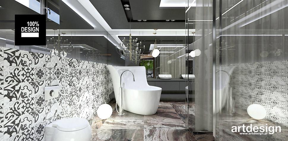 wnętrze domu projekt łazienki