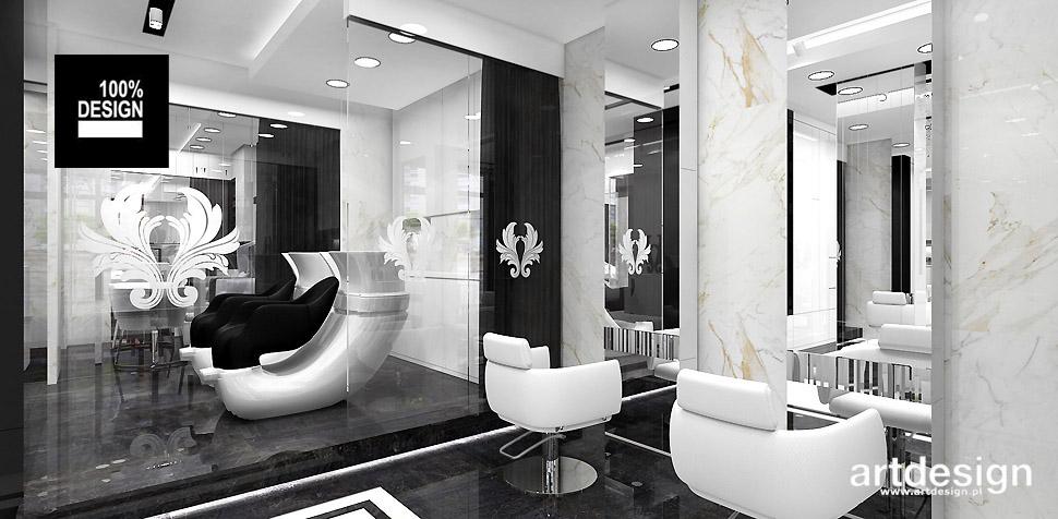 salon kosmetyczny wnętrze projekt