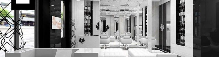 projekt wnętrz salon fryzjerski