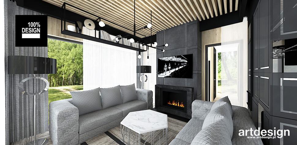 projekt wnętrza domku gościnnego