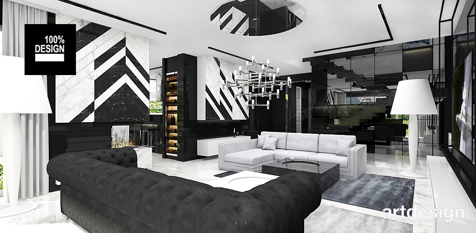 wnętrza design projekt salonu