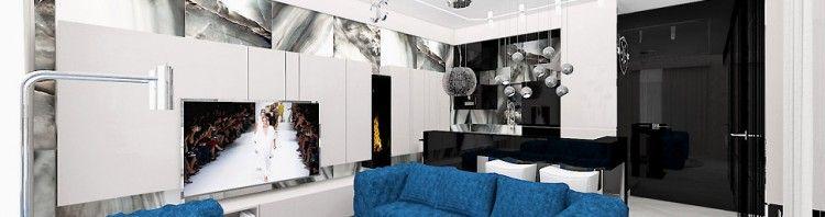 nowoczesny salon w apartamencie